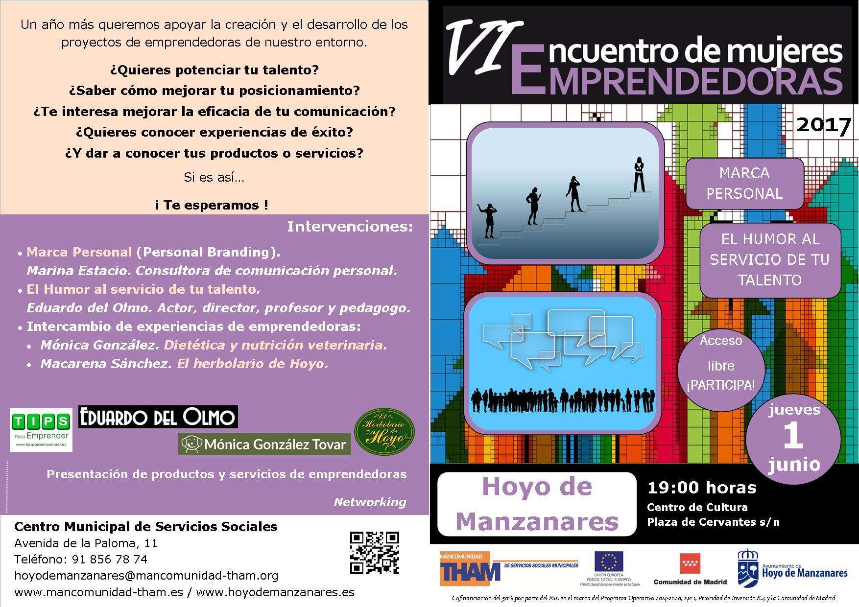 Cartel Mujeres Emprendedoras A5 en A4 - Hoyo de Manzanares