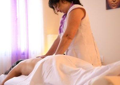 Sesión de masaje Shiatsu o de Acupuntura sin masaje
